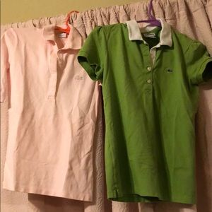 2 lacoste shirts in perfect condition!